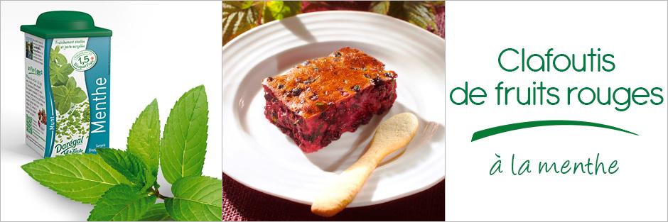 Darégal - recette - Clafoutis de fruits rouges et à la menthe