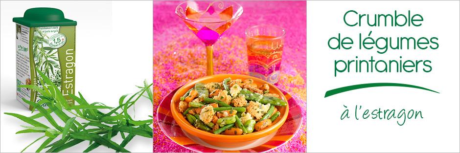 Darégal - recette - Crumble de légumes printaniers à l