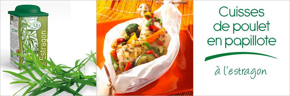 Darégal - recette - Cuisses de poulet et légumes en papillote à l