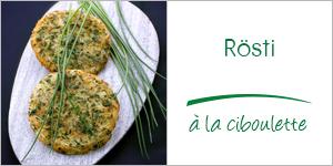 Darégal - recette - Rösti à la ciboulette