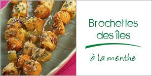 Darégal - recette - Brochettes des îles à la menthe