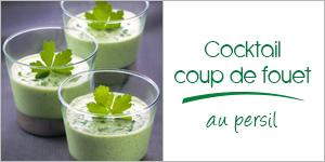 Darégal - recette - Cocktail coup de fouet au persil