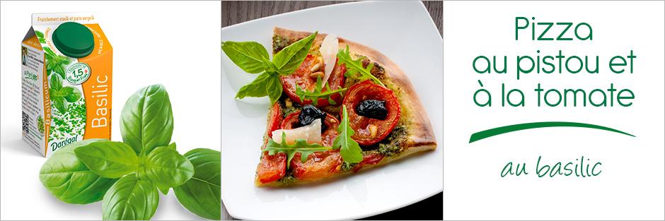 Darégal - recette - Pizza au pistou et à la tomate