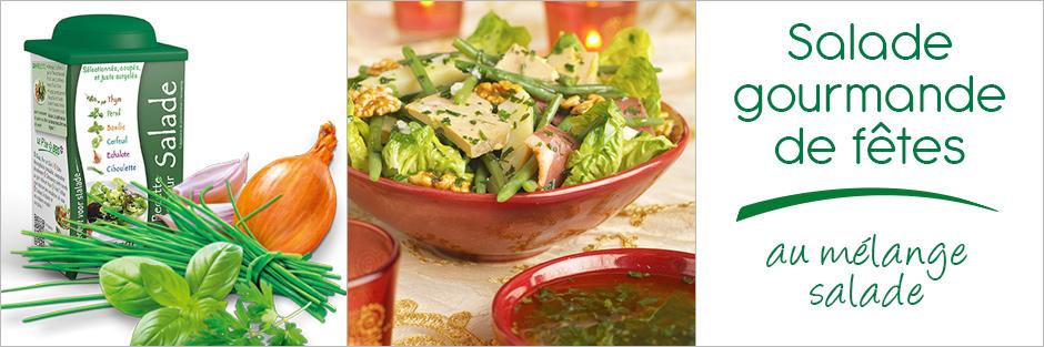 Darégal - recette - Salade folle au mélange salade