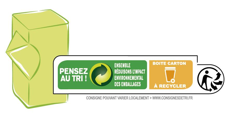 Darégal boite carton à recycler