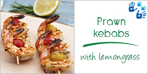 Prawn kebabs with lemongrass