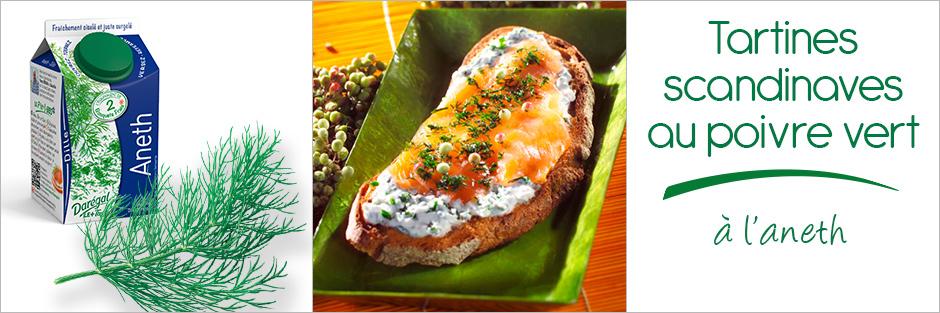 Darégal - recette - Tartine scandinave au poivre vert à l