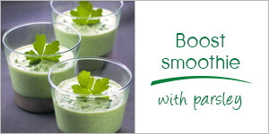 Boost smoothie with parsley