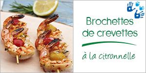 Brochettes de crevettes à la citronnelle