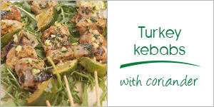 Turkey kebabs with coriander