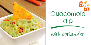 Guacomole dip with coriander