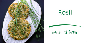 Rosti with chives