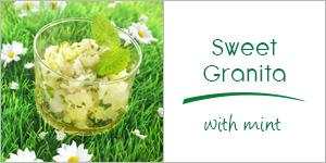 Sweet mint Granita
